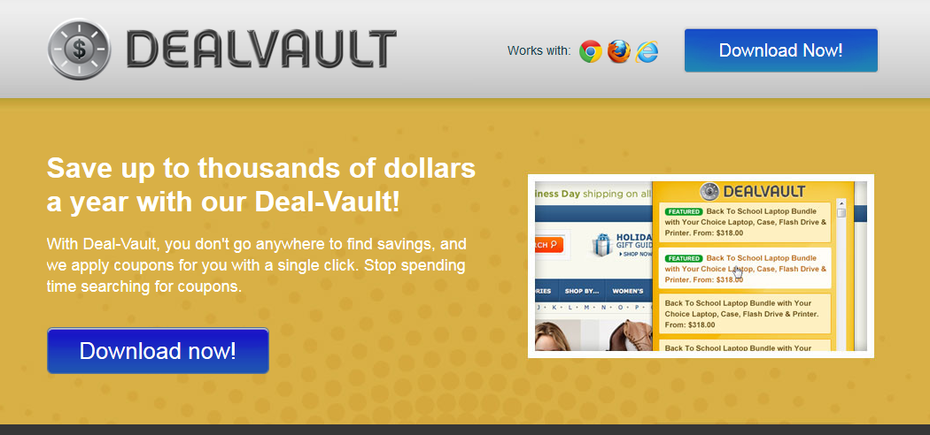 You can remove Deal Vault from your computer