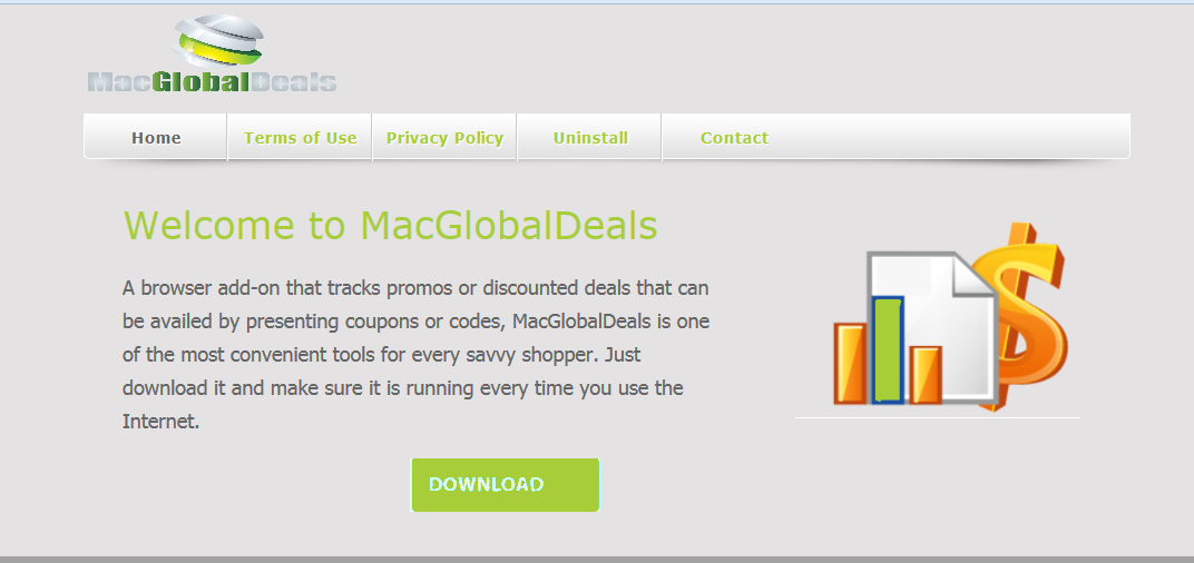 You can remove MacGlobalDeals from your computer