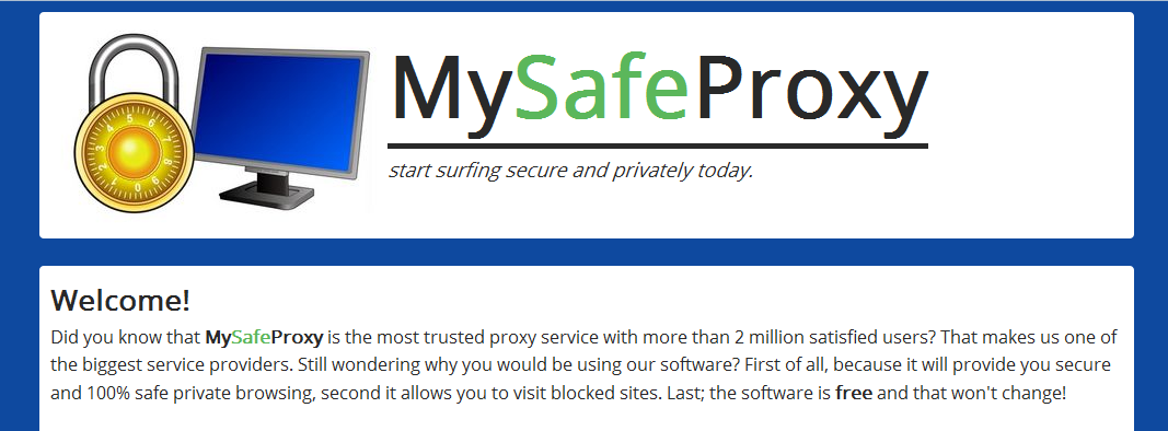 You can remove MySafeProxy from your computer