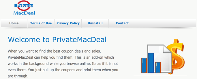 You can remove PrivateMacDeal from your computer