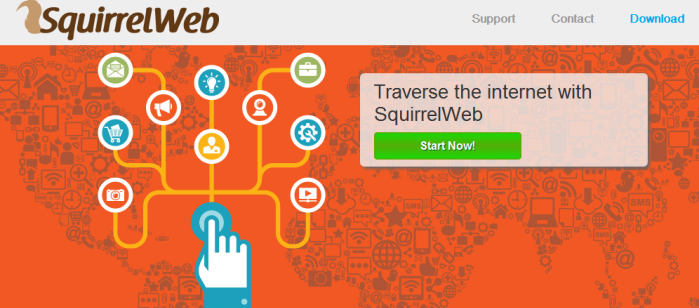 You can remove SquirrelWeb from your computer