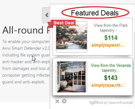 You can remove Featured Deals from your computer