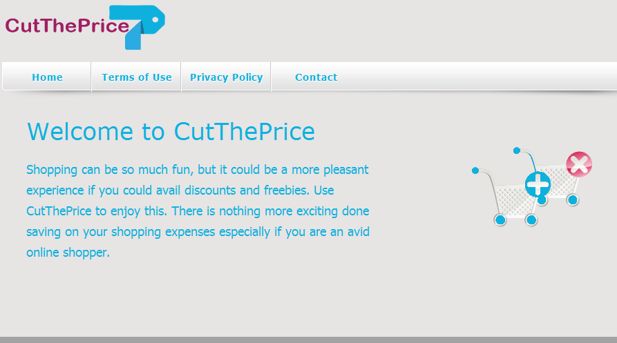 You can remove CutThePrice from your computer
