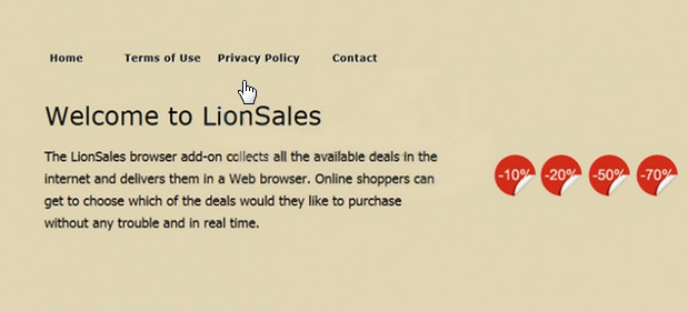 You can remove LionSales from your computer