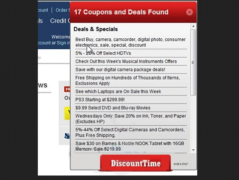 You can remove DiscountTime from your computer