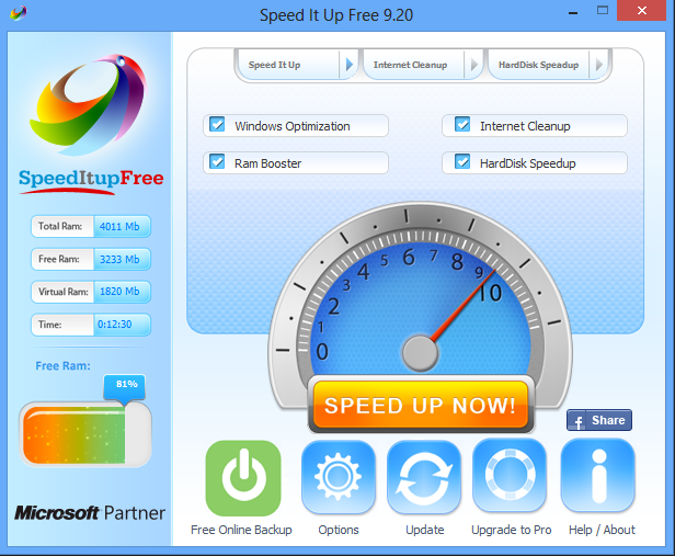 You can remove SpeedItUp from your computer