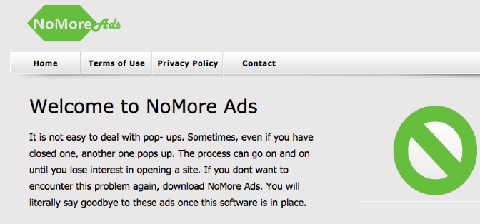 You can remove NoMore Ads from your computer