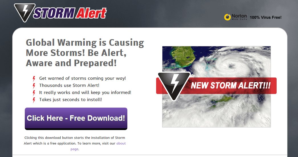 You can remove Storm Alert from your computer