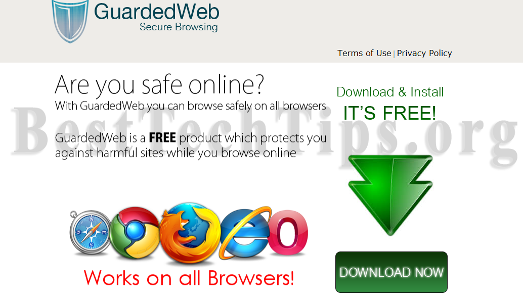 You can remove GuardedWeb from your computer