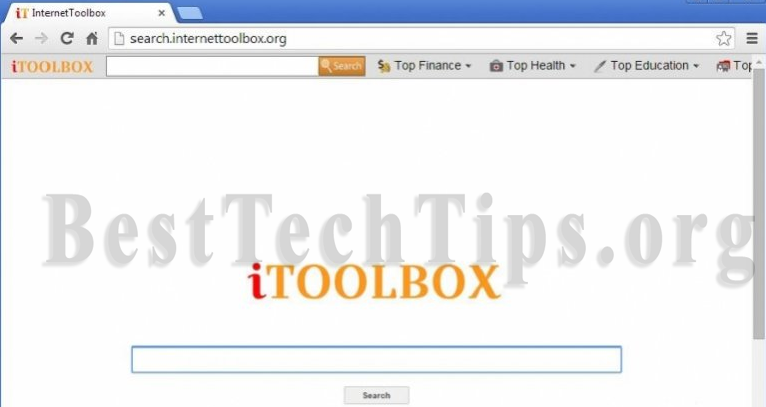 You can remove iToolbox toolbar from your computer