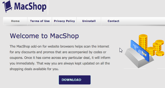 You can remove MacShop from your computer