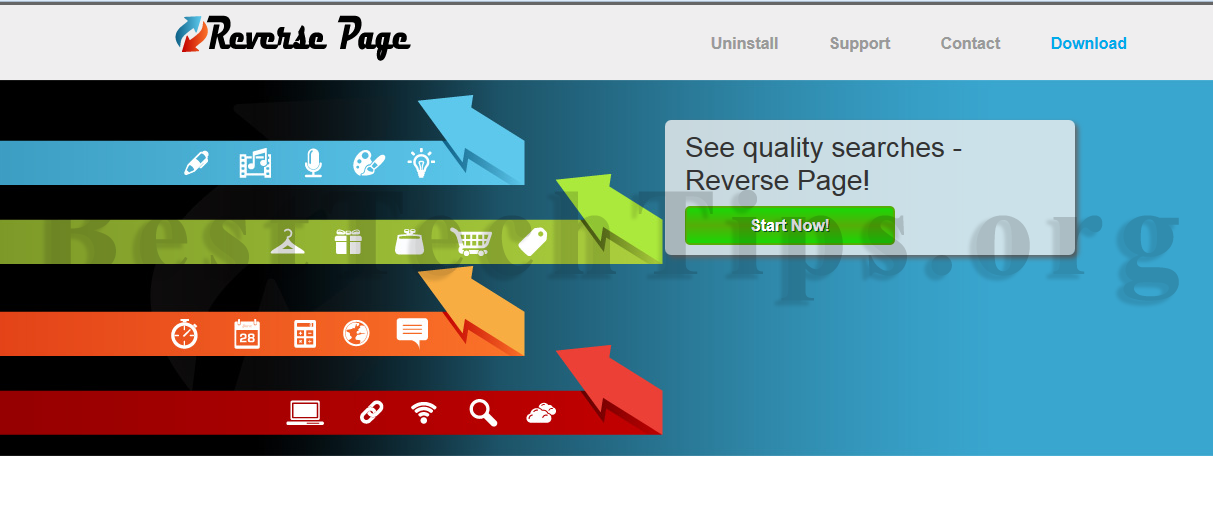 You can remove Reverse Page from your computer