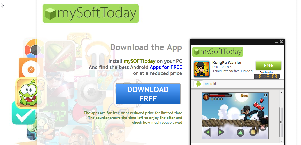 You can remove mySoftToday from yourmputer
