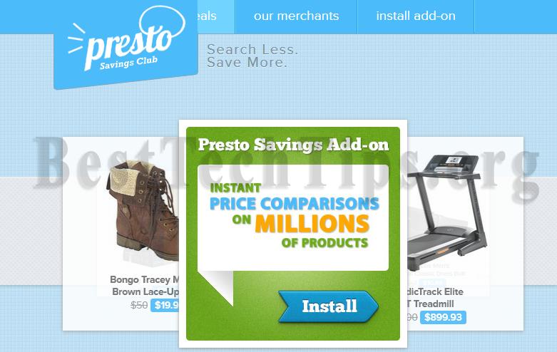 Get rid of PrestoSavings