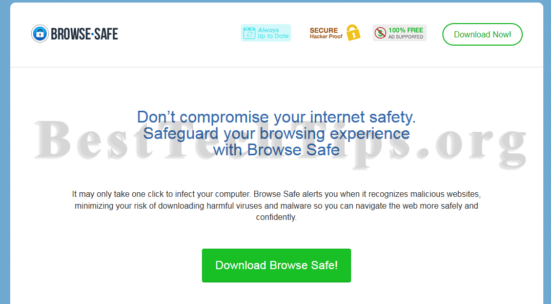Get rid of Browse Safe