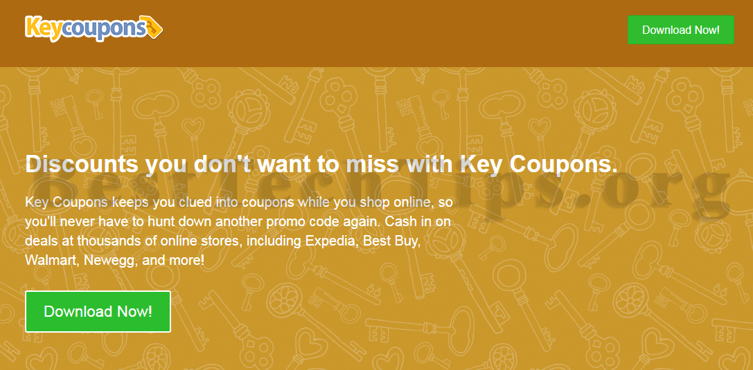 Get rid of Key Coupons