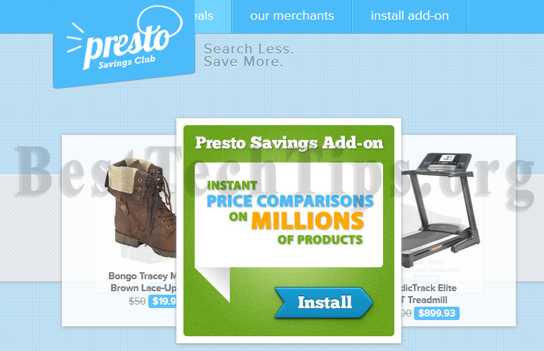 Get rid of Presto Savings