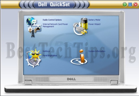 Method to remove Dell Quickset