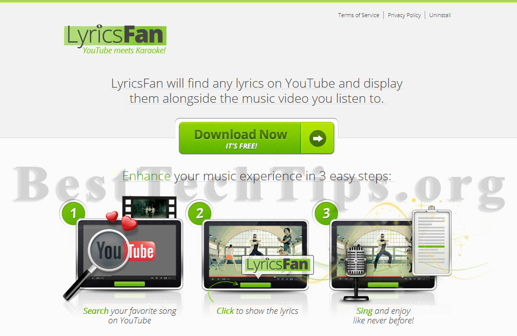 Get rid of LyricsFan