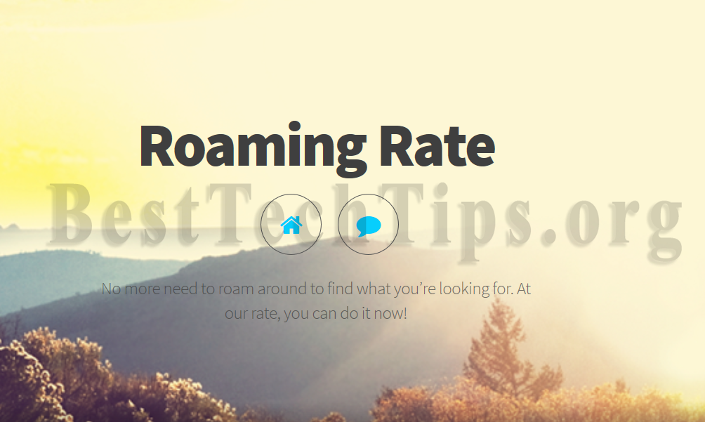 Get rid of Roaming Rate