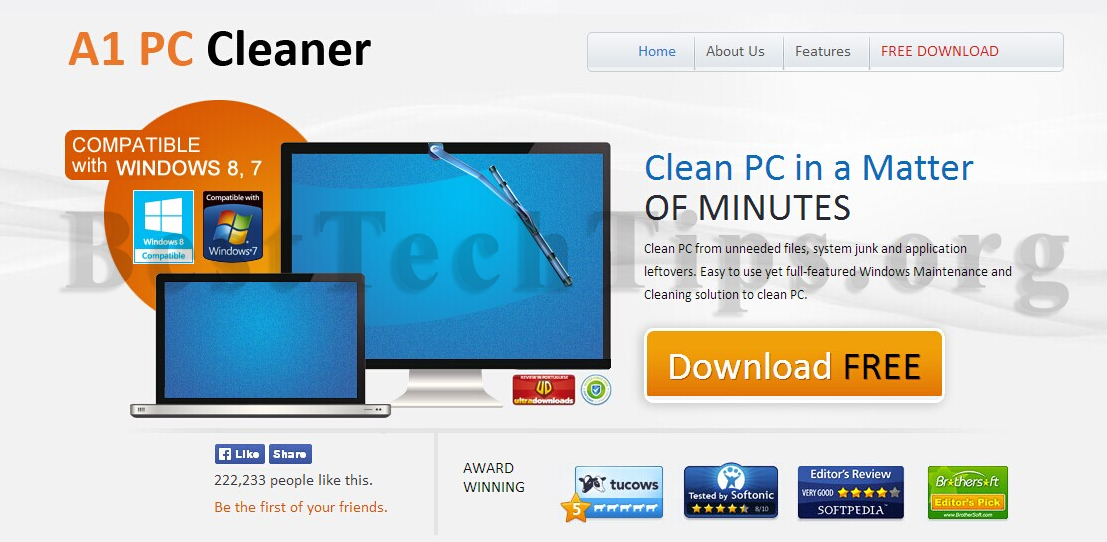 Get rid of a1pccleaner