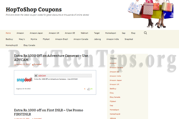 Get rid of HoptoshopCoupons