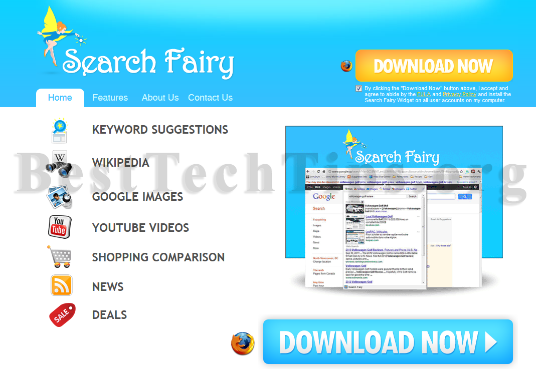 Get rid of Search Fairy