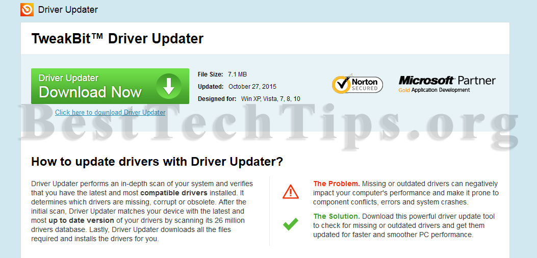 tweakbit driver updater serial key 2015