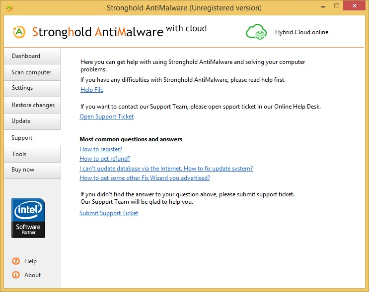 Stronghold AntiMalware support