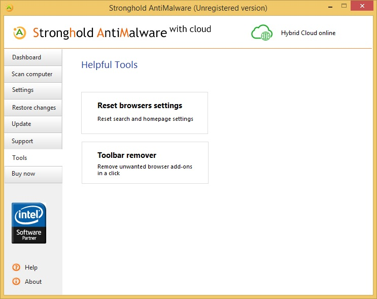 Stronghold AntiMalware helpful tools