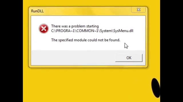 How to fix RunDLL Sysmenu.dll error on Windows 10 startup