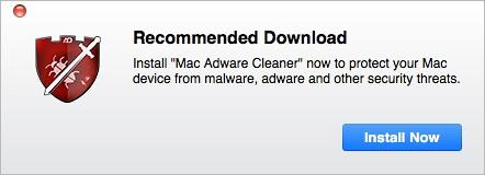 Mac Adware Cleaner pop-up