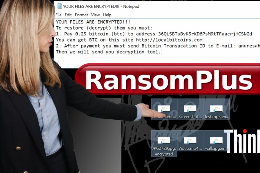 How to remove RansomPlus Ransomware and decrypt  encrypted files