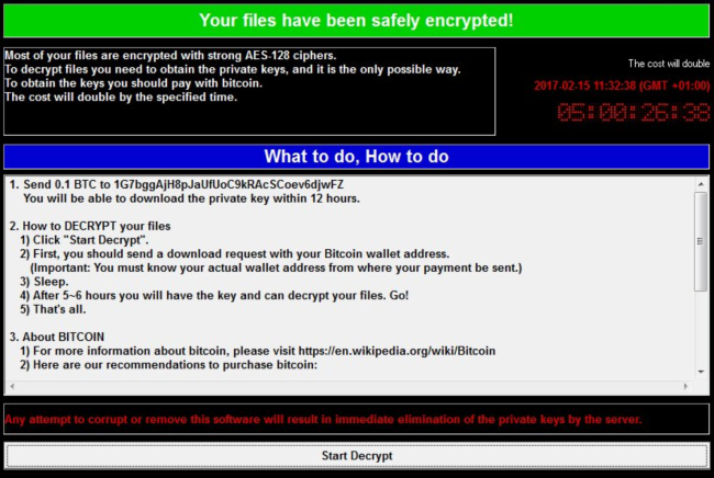Wcry Ransomware ransomware