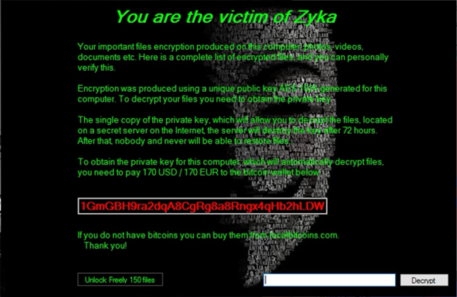 How to remove Zyka Ransomware and decrypt .lock files