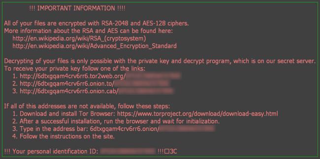 Aesir ransomware