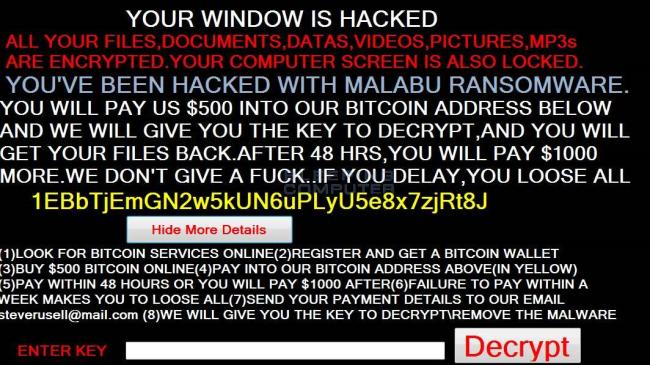 How to remove Malabu Ransomware and decrypt .fucked files