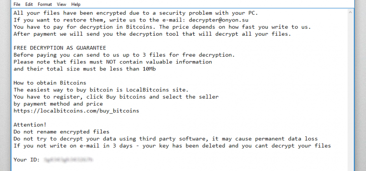 How to remove ONYONLOCK and decrypt .onyon files
