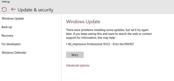 How to fix Windows 10 Update Error 0xC1900107, 0xC1420127, and 0x80070490