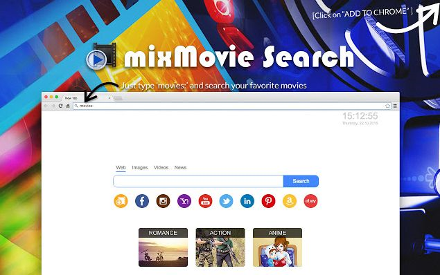 remove Search By mixMovie hijacker
