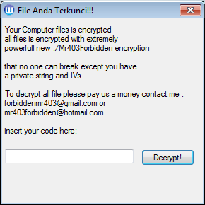 How to remove Mr403Forbidden Ransomware and decrypt .alosia files