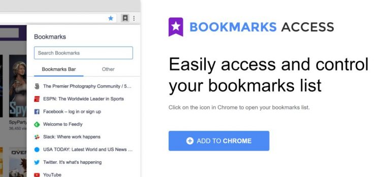 How to remove Bookmarks Access