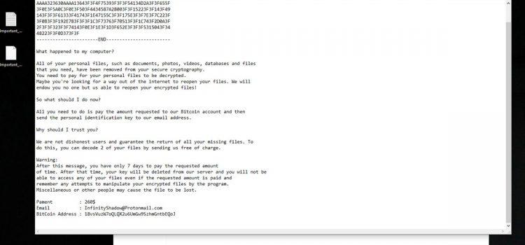 How to remove InfiniteTear and decrypt .JezRoz files