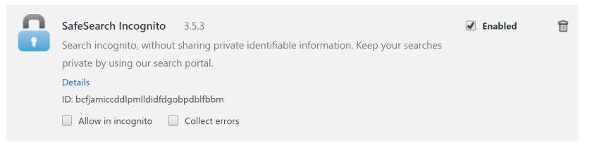 remove SafeSearch Incognito hijacker