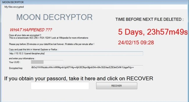 How to remove MoonCryptor ransomware and decrypt *.fmoon files