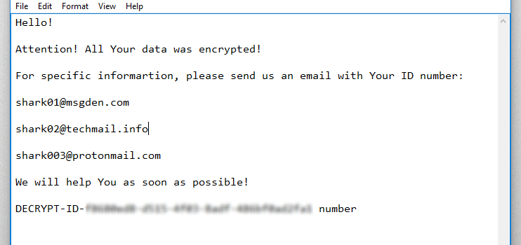 How to remove SharkMix ransomware and decrypt .SHARK files