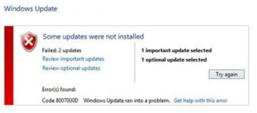 How to fix Windows 10 upgrade error 0x8007000d