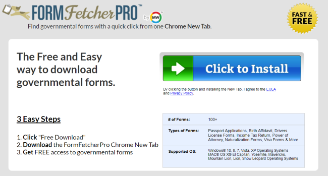 How to remove Form Fetcher Pro from computer and browsers