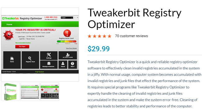 How to remove Tweakerbit Registry Optimizer
