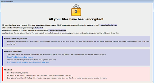 How to remove Arena Ransomware and decrypt .arena files